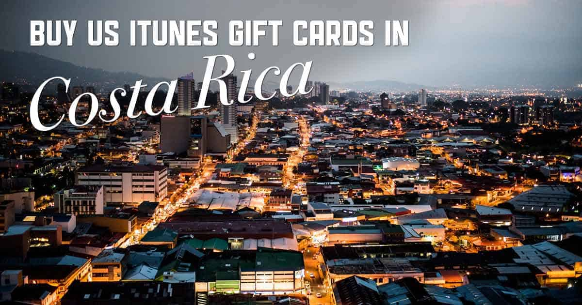 Shop US iTunes in Costa Rica
