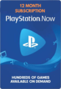 PlayStation Now 12 Month Subscription Card