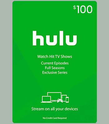 Hulu Gift Card $100