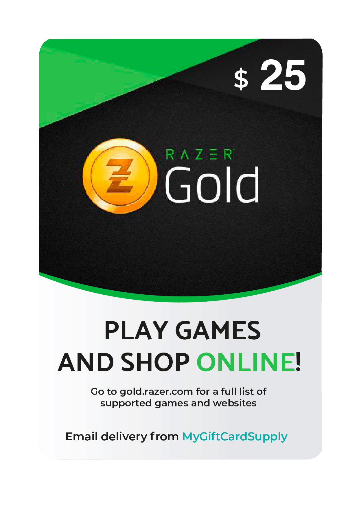 Buy Razer Gold Gift Cards Digital Email Delivery Mygiftcardsupply